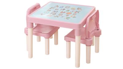 Set masuta si 2 scaune Balto Roz/Coral