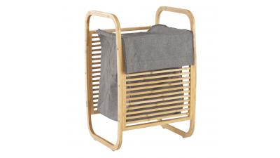 Cos pentru rufe din bambus lacuit si material textil Poko