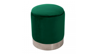 Taburet din catifea Daron Verde
