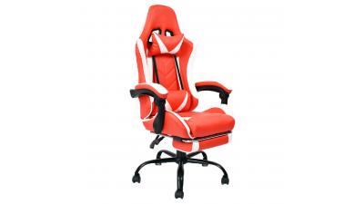 Scaun gaming cu suport pentru picioare Ozge Rosu