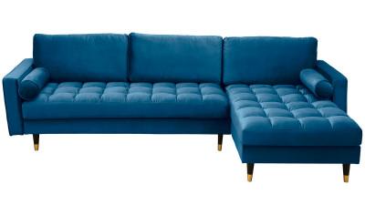Coltar din catifea Invicta Interior Cosy Velvet Albastru