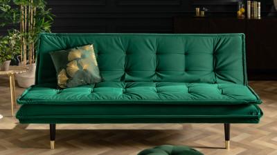 Canapea extensibila Invicta Interior Magnifique Verde