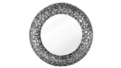 Oglinda de perete Invicta Interior Stone Mosaic Gri - Ø80 cm