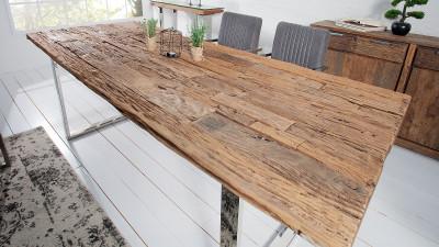 Masa dining din lemn reciclat de tec Invicta Interior - 100x200 cm