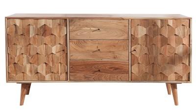 Dulap din lemn de salcam Invicta Interior Mystic