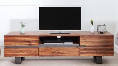 Comoda TV din lemn de salcam Invicta Interior Genesis