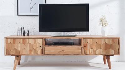 Comoda TV din lemn de salcam Invicta Interior Mystic