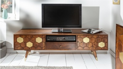 Comoda TV din lemn de salcam Invicta Interior Mystic Living