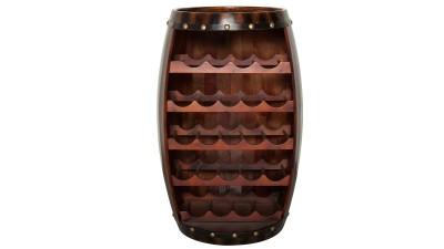 Suport din lemn de brad pentru 23 de sticle Invicta Interior Bodega Coffee - inaltime 80 cm