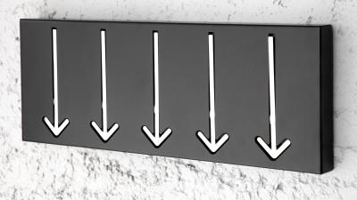 Cuier Invicta Interior Arrow Negru - 45 cm