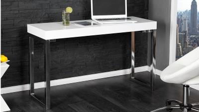 Masa din MDF pentru laptop Invicta Interior Alb Desk - 120x40 cm