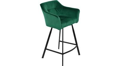 Scaun de bar Invicta Interior Loft Green - inaltime 100 cm