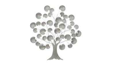 Decoratiune perete Mauro Ferretti Silver Tree - 93x87,5 cm