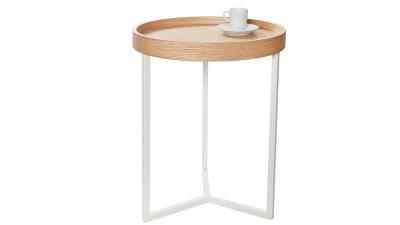 Masa cafea cu tava detasabila Invicta Interior Modular Natur - Ø40 cm