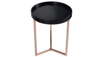 Masa cafea cu tava detasabila Invicta Interior Modular Negru Copper - Ø40 cm