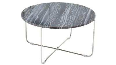 Masa cafea Invicta Interior Noble Marmor Silver - Ø62 cm
