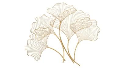 Decoratiune perete Mauro Ferretti Glam Leaf - 79x68 cm