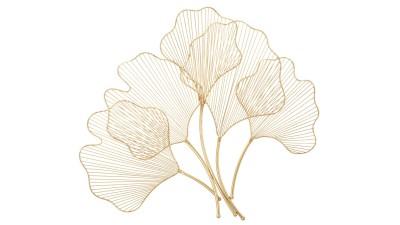 Decoratiune perete Mauro Ferretti Glam Leaf - 69x62 cm
