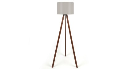 Lampadar din MDF si PVC Casteltermini Maro/Beige - inaltime 140 cm
