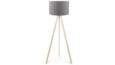 Lampadar din MDF si PVC Casteltermini Grey/Natur II - inaltime 140 cm
