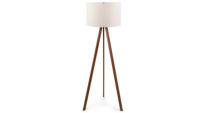 Lampadar din MDF si PVC Casteltermini Ecru/Maro - inaltime 140 cm