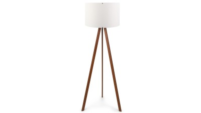 Lampadar din MDF si PVC Casteltermini Alb/Maro - inaltime 140 cm