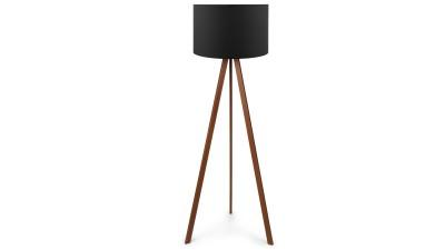 Lampadar din MDF si PVC Casteltermini Negru/Maro - inaltime 140 cm