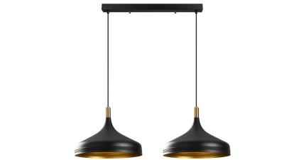 Lustra cu 2 brate Acireale Negru/Gold - 68x36 cm
