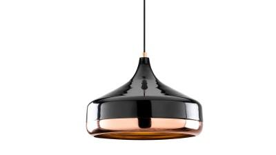 Pendul Butera Negru/Copper - Ø36 cm