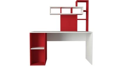 Birou din PAL melaminat Limina Alb/Red