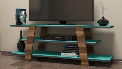 Comoda TV din PAL melaminat Galicia Turquoise/Maro