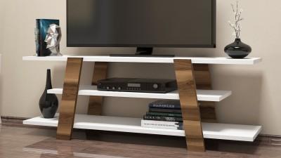 Comoda TV din PAL melaminat Galicia Alb/Maro