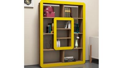 Biblioteca din PAL melaminat Tivoli Yellow/Maro