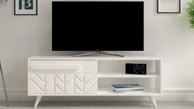 Comoda TV din PAL melaminat Pagliara Alb