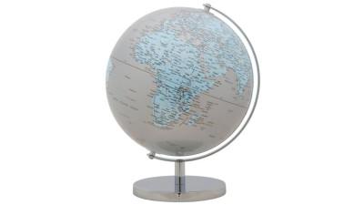 Decoratiune Mauro Ferretti Globe Silver - 25x34 cm