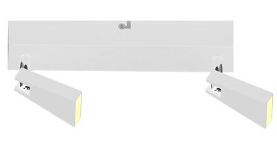 Plafoniera cu 2 brate LED Zuma Line Spazio Alb