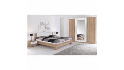Set dormitor din PAL melaminat Martina Stejar sonoma/ Alb