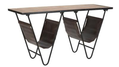 Masa din lemn de brad cu suport reviste Mauro Ferretti