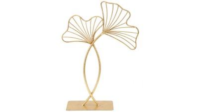 Decoratiune Mauro Ferretti Leaf Glam - inaltime 35 cm