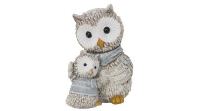 Decoratiune Mauro Ferretti Owl Ken with son - 7x4,5x7,5 cm