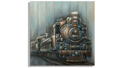 Tablou Mauro Ferretti Train - 80x80 cm