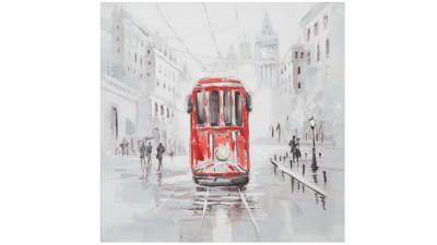 Tablou Mauro Ferretti Rain Tram A - 80x80 cm