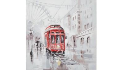 Tablou Mauro Ferretti Rain Tram B - 80x80 cm