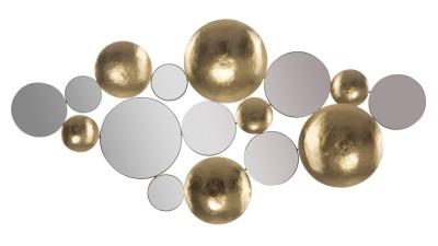 Decoratiune de perete cu oglinzi Mauro Ferretti Glam - 118x60 cm