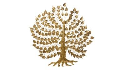 Decoratiune perete Mauro Ferretti Super Leaf - 110x109,5 cm