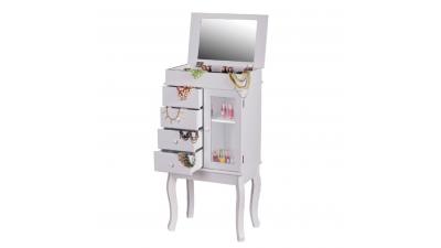 Cutie de bijuterii cu oglindă Rulia Alb