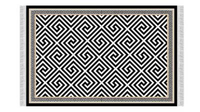 Covor cu franjuri Motive - 160x230 cm