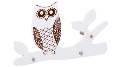 Cuier din MDF Mauro Ferretti Owl - 40x7x22 cm
