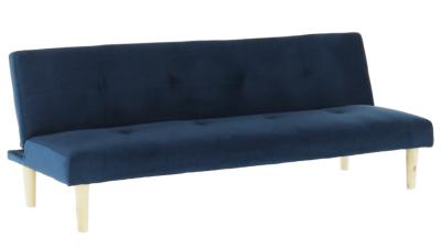 Canapea extensibila din catifea Alida Albastru