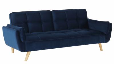 Canapea extensibila din catifea Filema Albastru regal
